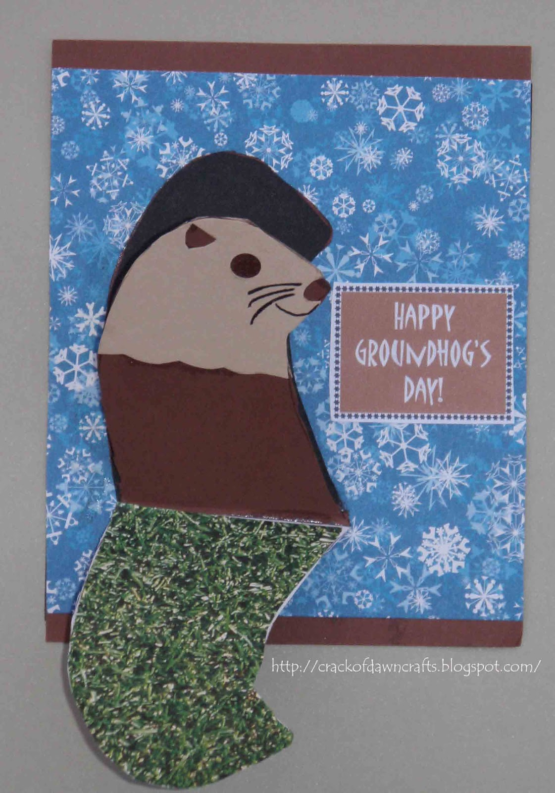 Crack Of Dawn Crafts Groundhogs Day Greetings