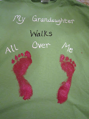 Footprint T-shirt for Grandparent's Day