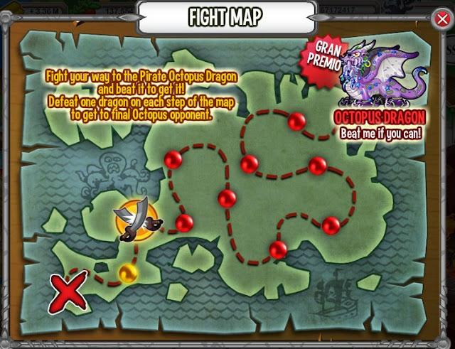 mapa de las peleas de la tarea pirate fights