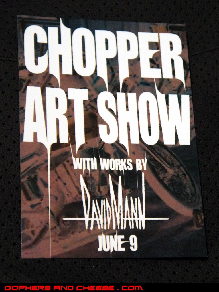 Gophers And Cheese Chopper Art Show June 9th