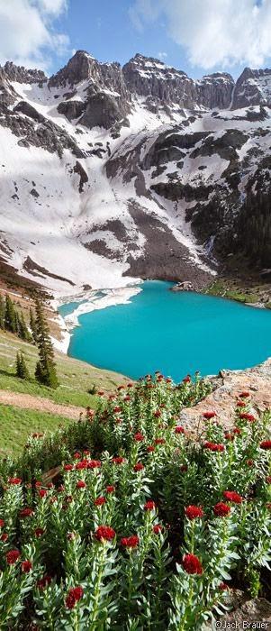 Blue Lake, Dallas Peak, Sneffels Range, San Juan Mountains, Colorado