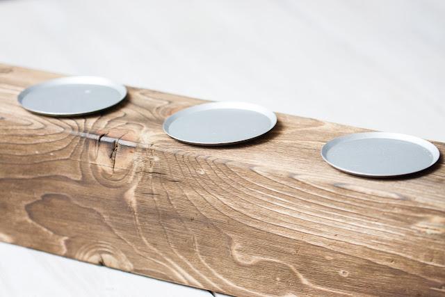Adventskranz- Alternative aus Holz