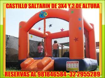 CASTILLO SALTARIN DE 3X 3 Y 2MT DE ALTURA