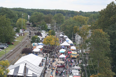 aerial shot of the 1st annual Woodbury, NJ Fall Arts Festival