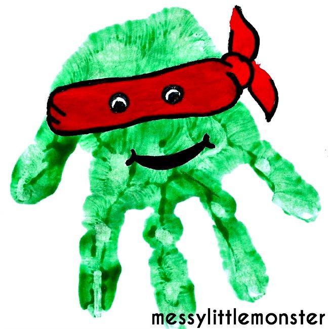 Teenage Mutant Ninja Turtles Handprint Craft