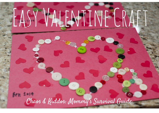 Easy Valentine Craft - Using Your Resources