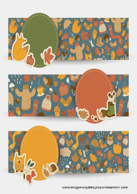 Etiquetas de otoño para imprimir