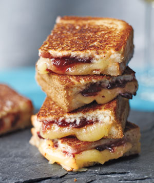 ... -Brioche and Aged Gruyere Grilled Ch eese Sandwiches w/ Fruit Chutney