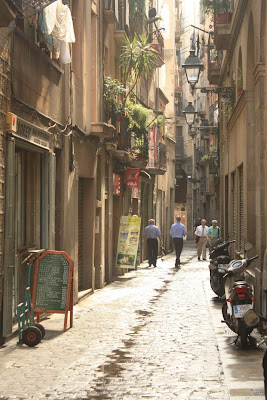 Street of the Gothic Quarter of Barcelona