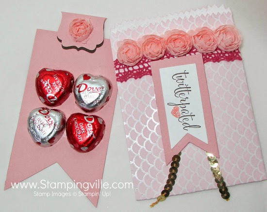 Super easy and cute treat bag. #Valentines #papercrafts #StampinUp