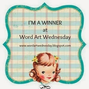 gagnante chez Word Art Wednesday