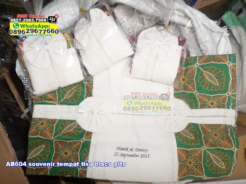 souvenir tempat tisu blacu pita murah