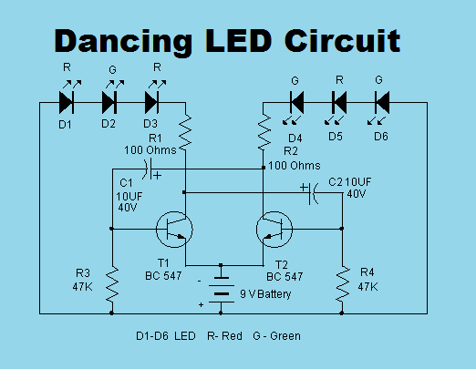 Dancing led circuit non stop engineering ccuart Image collections