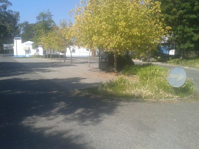 parque de estacionamento entrada