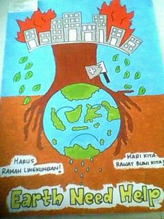 Poster Lingkungan Hidup (Karya Kelas X)