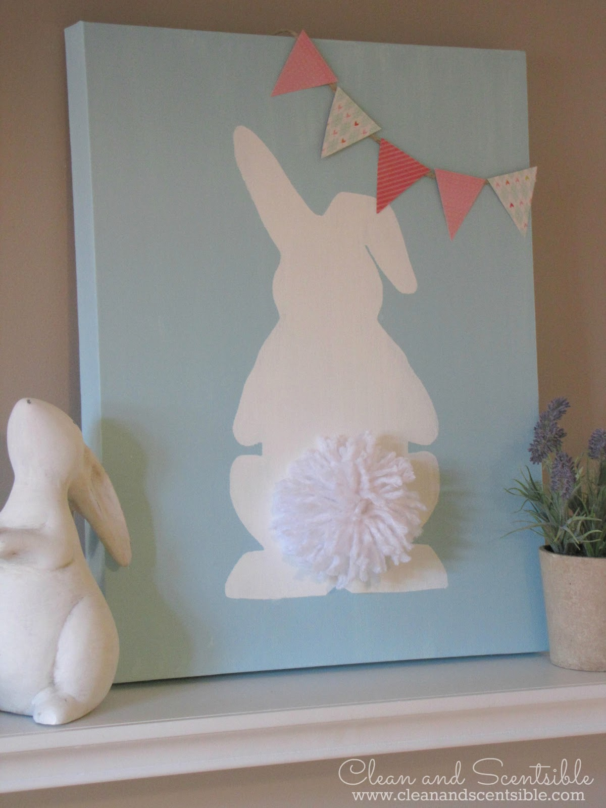 Easter Bunny Canvas Clean And Scentsible
