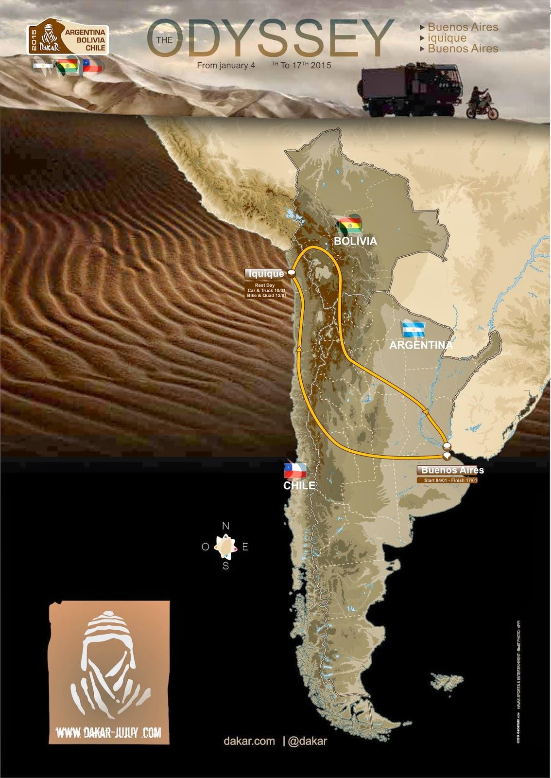 Recorrido del Rally Dakar 2015