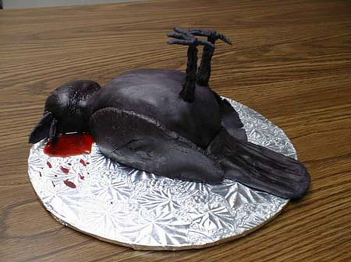 funny birthday cakes. Here#39;s a cake that says quot;Bone