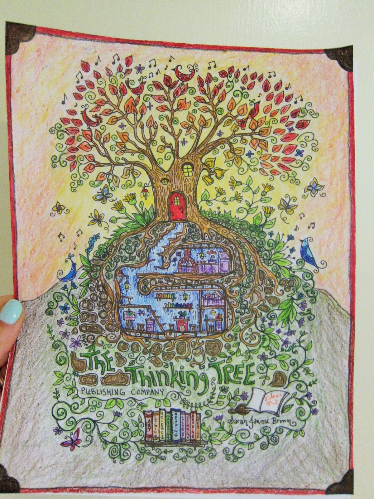 The Idea Book: Adult Coloring book review and each medium used