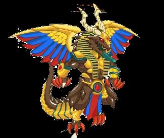 imagen del dragon bahamut faraon de social empires
