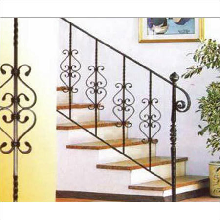 New home designs latest modern homes iron stairs railing designs - Home stair railing design ...