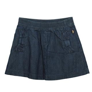 Denim Skirt In Dark Wash from BillieBlush