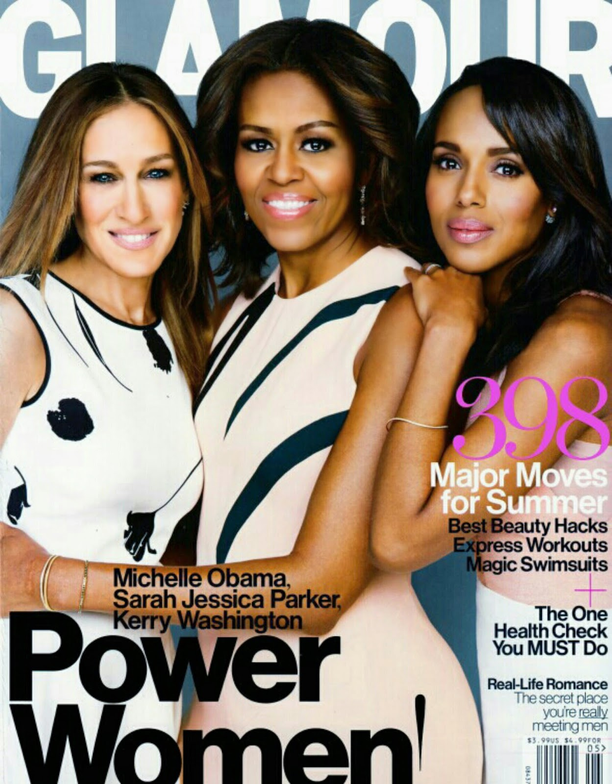 Sarah Jessica Parker, Michelle Obama & Kerry Washington by Patrick Demarchelier for Glamour US