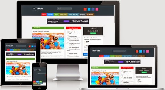intouch blogger template