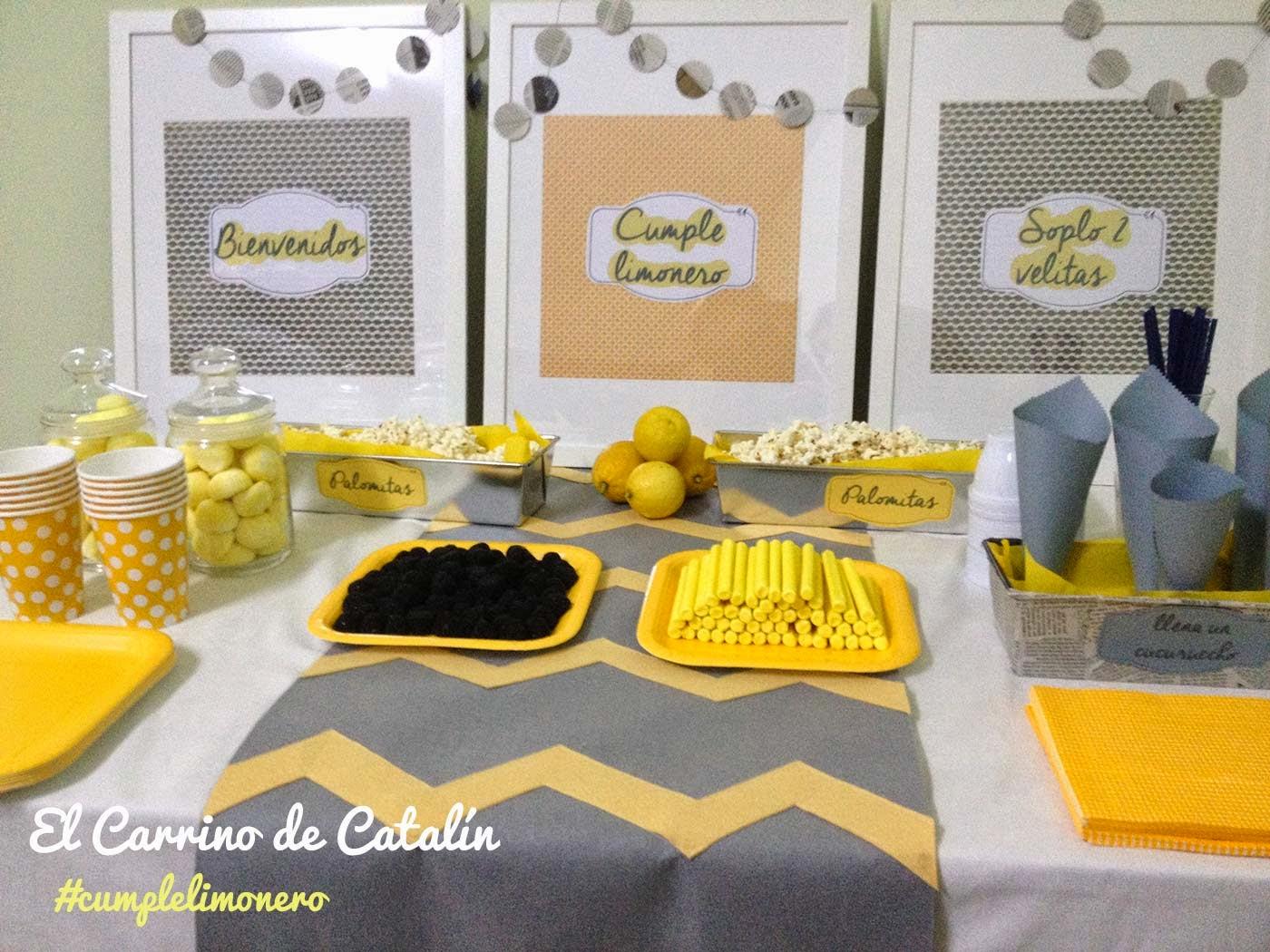 decoración de mesa de cumpleaños