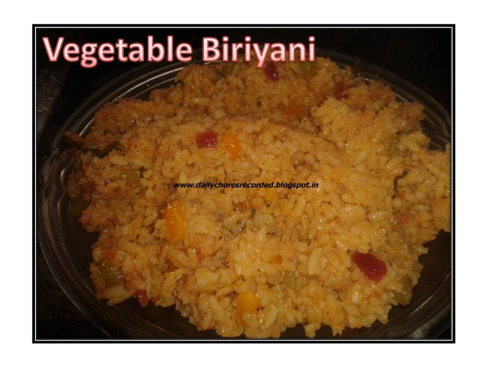 Mixed Vegetable Biriyani