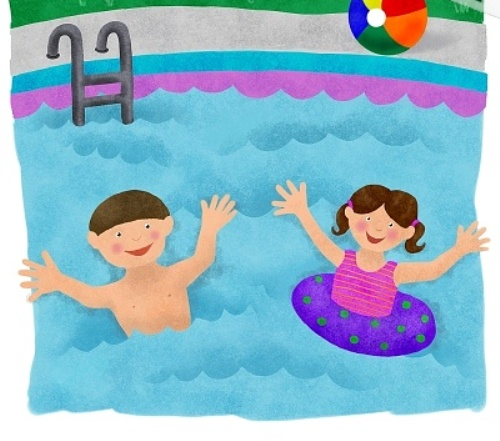 Kids Swimming Cartoon Images Music Search Engine At