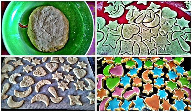 Preparación de las galletas dulces sueños