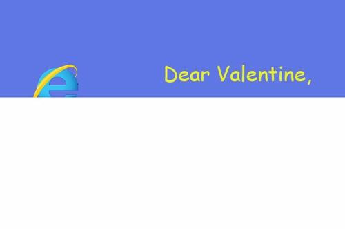 Valentine Internet Explorer