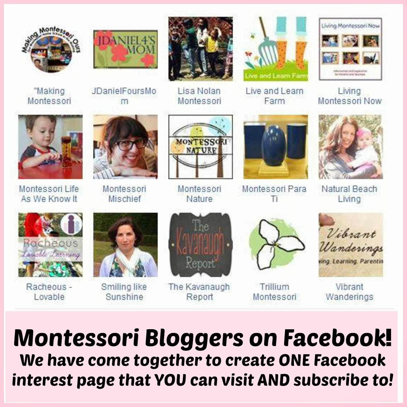 MONTESSORI BLOGGERS ON FACEBOOK