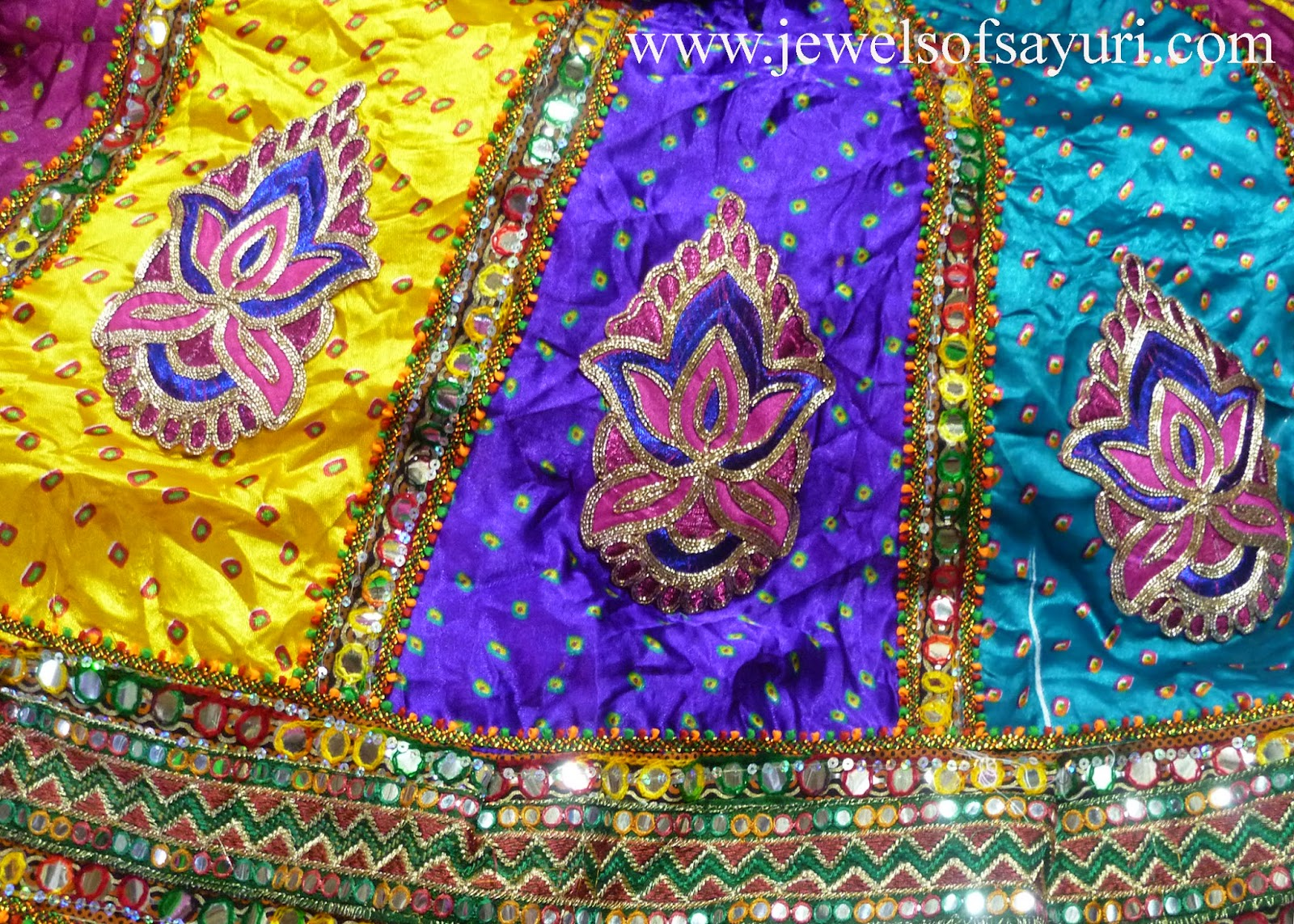 multicolor skirts with Embroidery and patch work