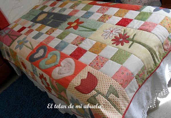 El telar de mi abuela colcha patchwork - Colchas de patchwork hechas a mano ...