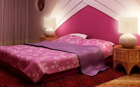 Pink-Design-Bedsheet-Decoration-Style