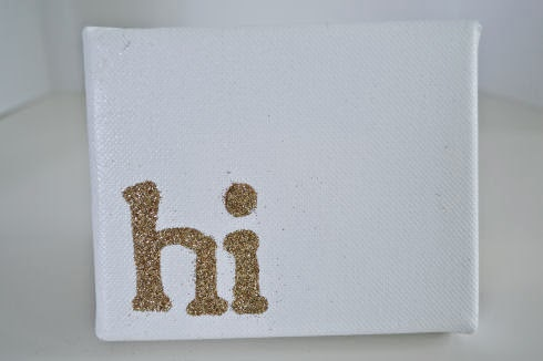 DIY Glitter Art | seriously-lovely.blogspot.com