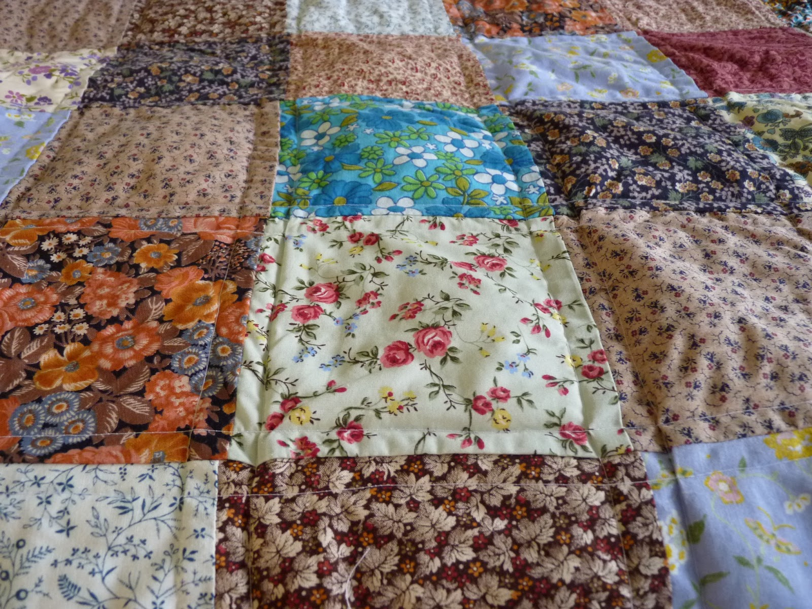 Fine linen and purple vintage fabric quilt finished for Quilting material