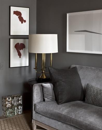 Interior design and decoration 50 shades of grey Shades of gray for living room
