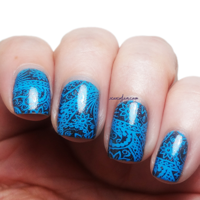 xoxoJen's swatch of Ever After Blue Steel Nail Art