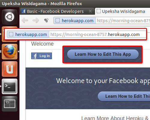 updated heroku facebook app