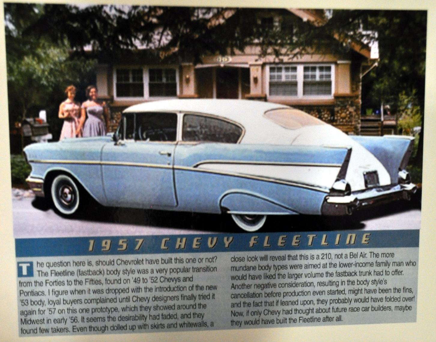 Just A Car Guy John Pooles 1957 Chevy 210 Fleetline What If Panel Van At Saturday January 30 2016