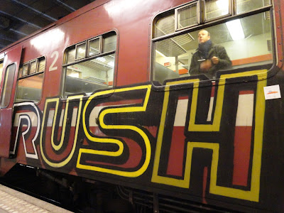oahu rush train graffiti