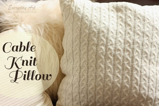 knit sweater pillow