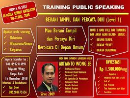 Training  'Public Speaking' Batulicin