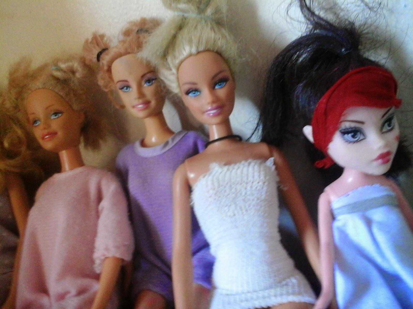 Look festa do pijama Monster High e barbie
