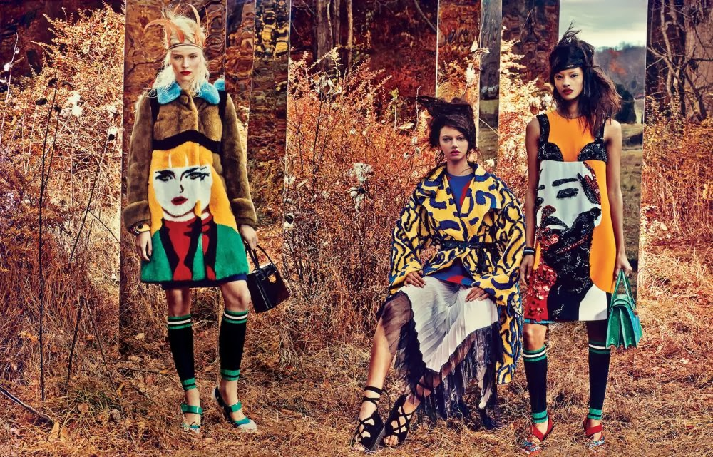 Magazine photoshoot : Malaika Firth, Marina Nery, Sasha Luss, Irene Hiemstra, Juliana Schurig Photoshot For W Ma