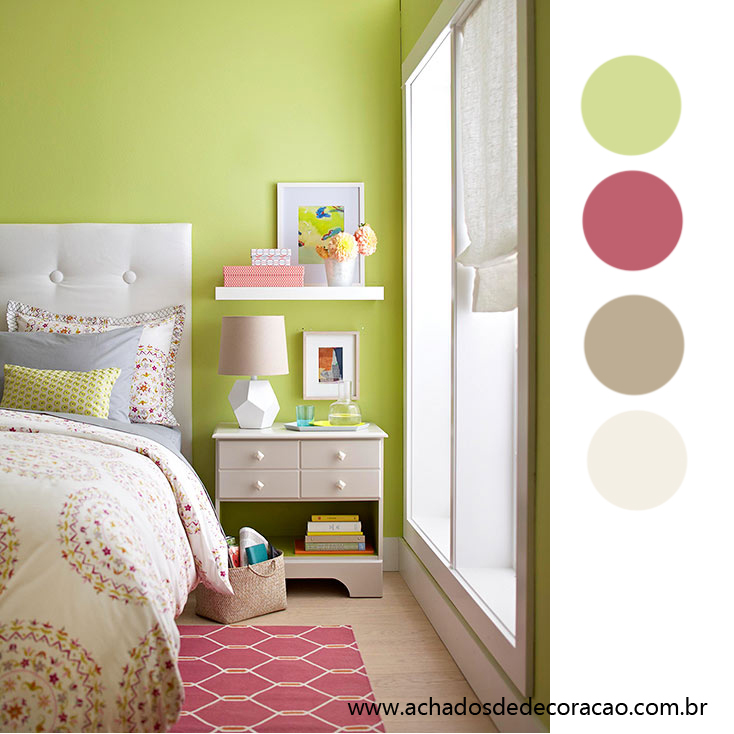 Blog achados de decora o combina o de cor do dia verde rosa e creme na decora o - Smart furniture for small spaces handy solutions ...