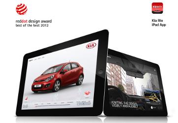 aplikacja dla iPada na temat Kia Rio